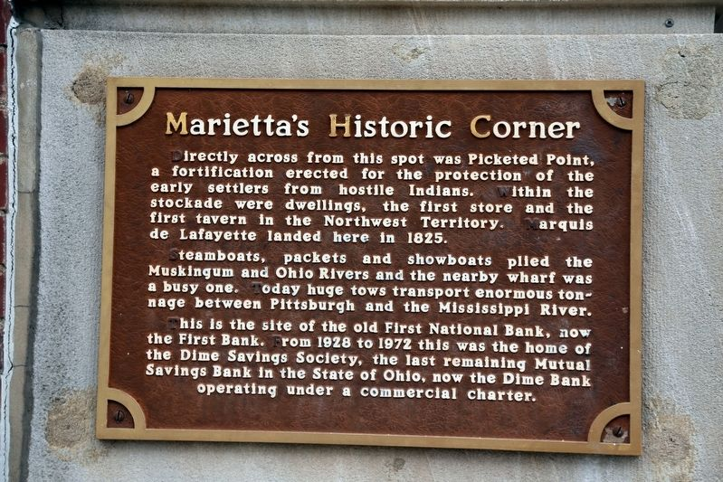 Marietta's Historic Corner Marker image. Click for full size.
