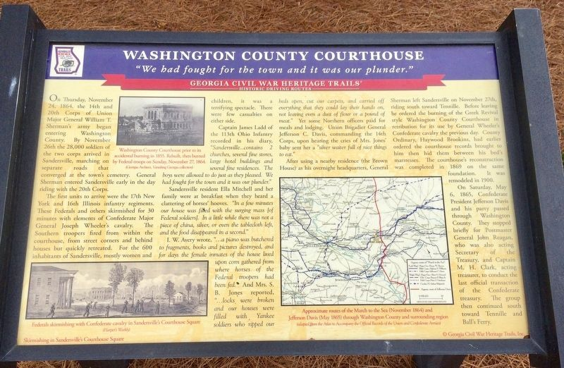 Washington County Courthouse Marker image. Click for full size.