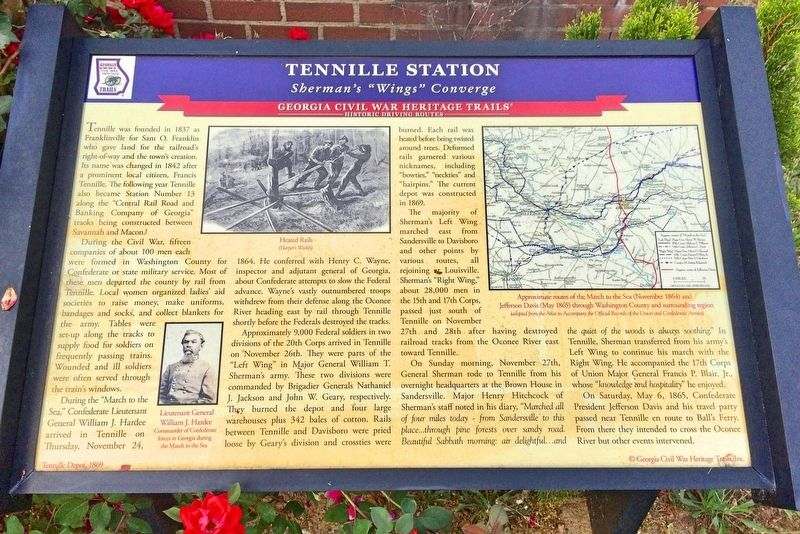 Tennille Station Marker image. Click for full size.