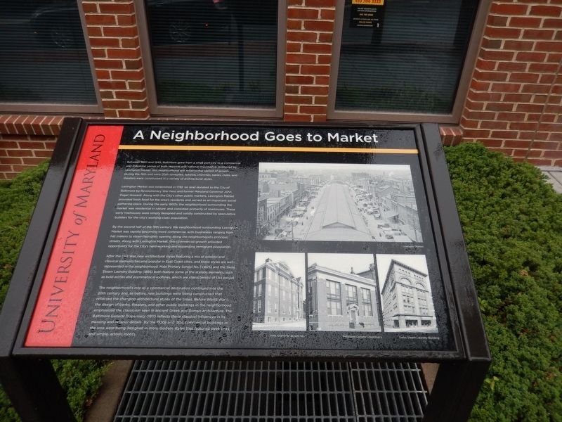 A Neighborhood Goes to Market Marker image. Click for full size.