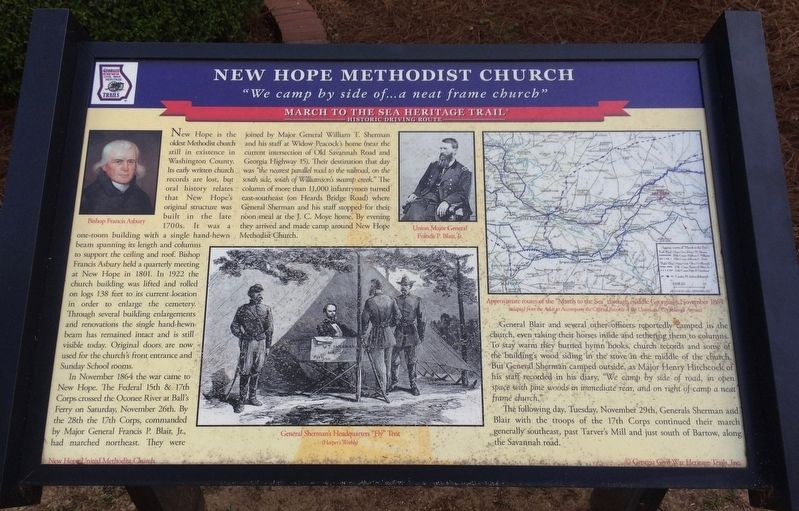 New Hope Methodist Church Marker image. Click for full size.