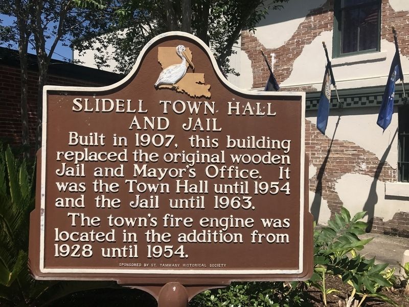 Slidell Town Hall and Jail Marker image. Click for full size.