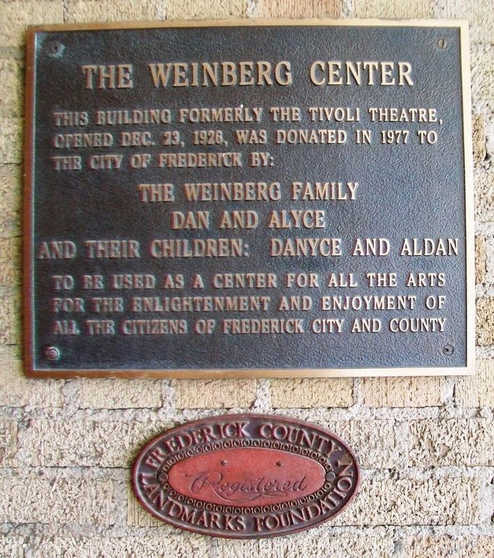 The Weinberg Center Markers image. Click for full size.