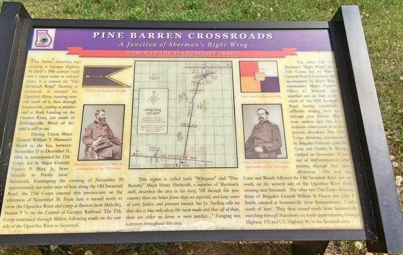 Pine Barren Crossroads Marker image. Click for full size.