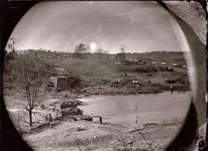 Old Germanna Bridge stone abuttments and piers. image. Click for full size.