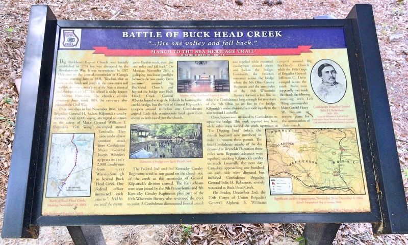 Battle of Buck Head Creek Marker image. Click for full size.