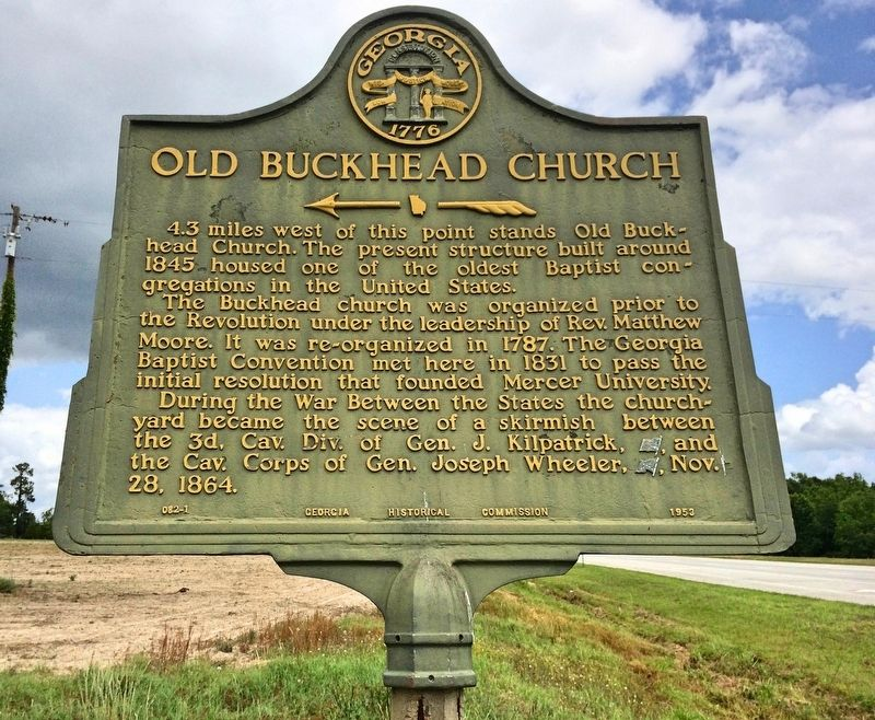 Another marker east of the church, on Big Buckhead Church Road. image. Click for full size.