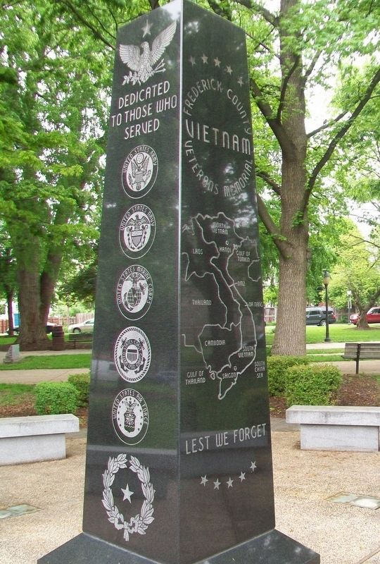 Frederick County Vietnam Veterans Memorial Obelisk image. Click for full size.