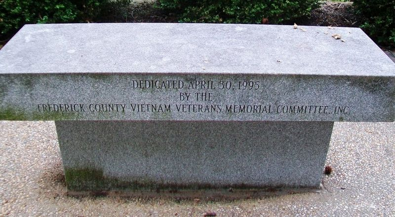 Frederick County Vietnam Veterans Memorial Bench image. Click for full size.