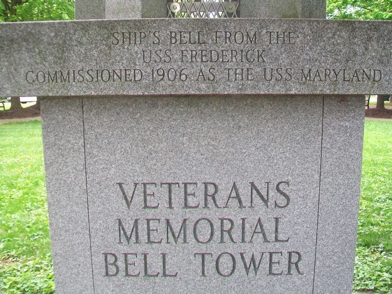 Veterans Memorial Bell Tower Marker image. Click for full size.