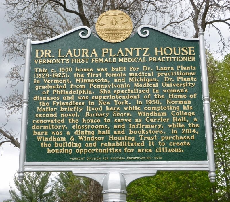 Dr. Laura Plantz House Marker image. Click for full size.