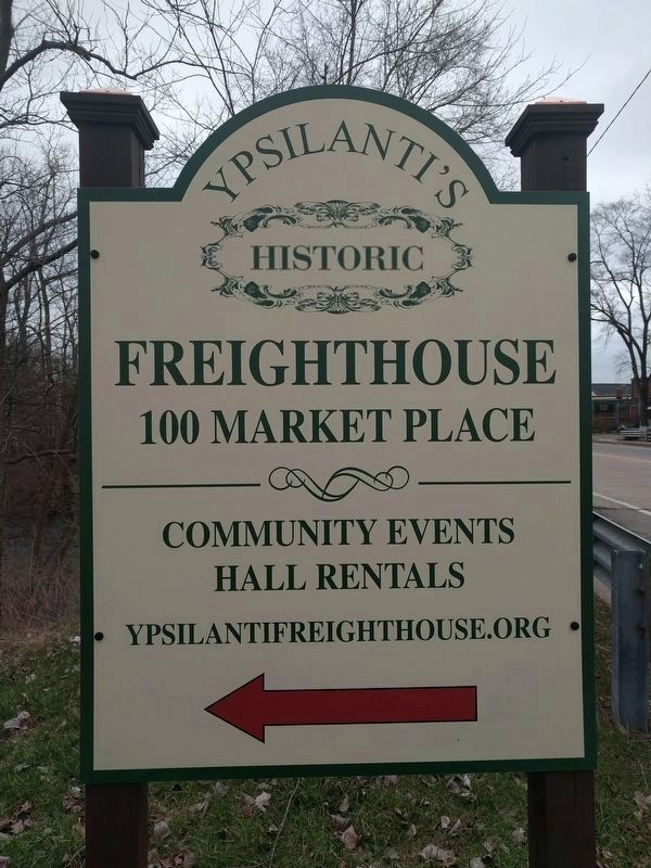 Michigan Central Freighthouse Directional Sign image. Click for full size.
