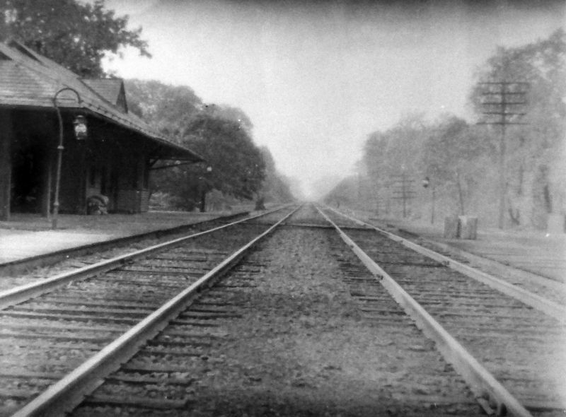 Garrett Park Baltimore & Ohio Railroad Station c. 1900 image. Click for full size.