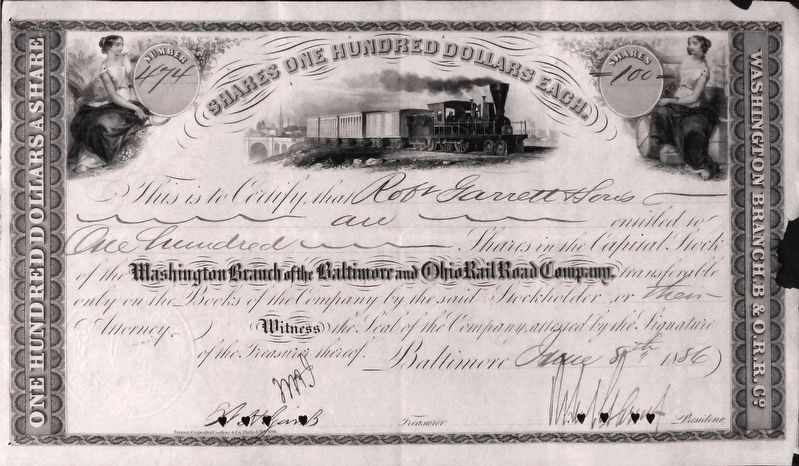 Stock Certificate image. Click for full size.