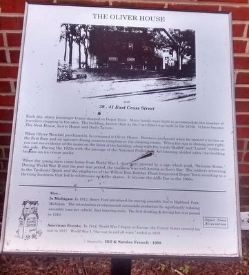 The Oliver House Marker image. Click for full size.