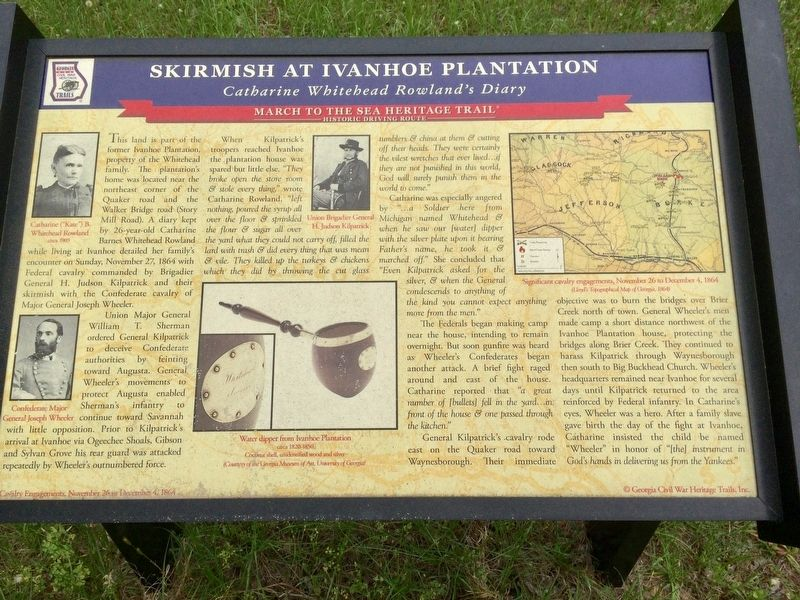 Skirmish at Ivanhoe Plantation Marker image. Click for full size.
