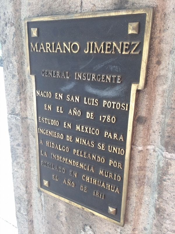 General Mariano Jiménez Marker image. Click for full size.