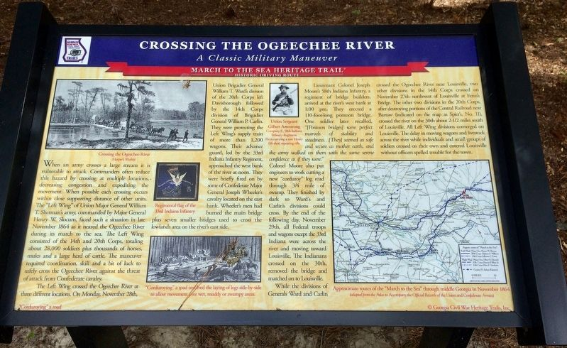 Crossing the Ogeechee River Marker image. Click for full size.