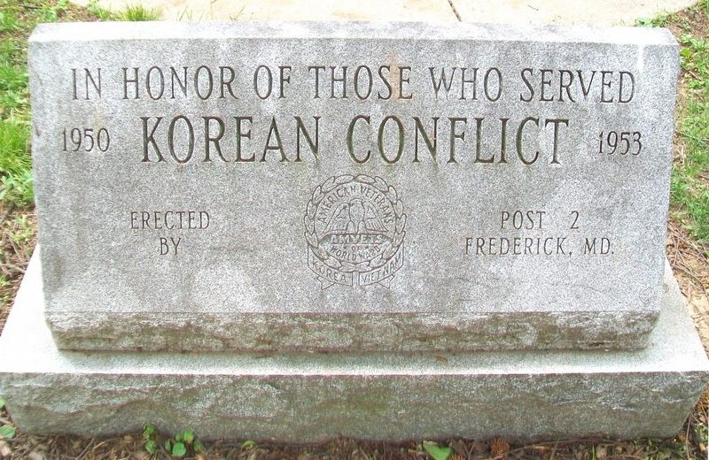 Korean Conflict Memorial Marker image. Click for full size.