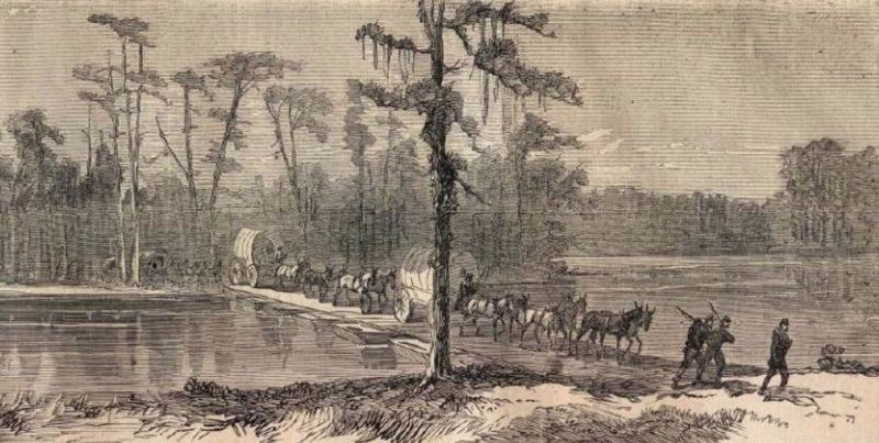 Crossing the Ogeechee River image. Click for full size.