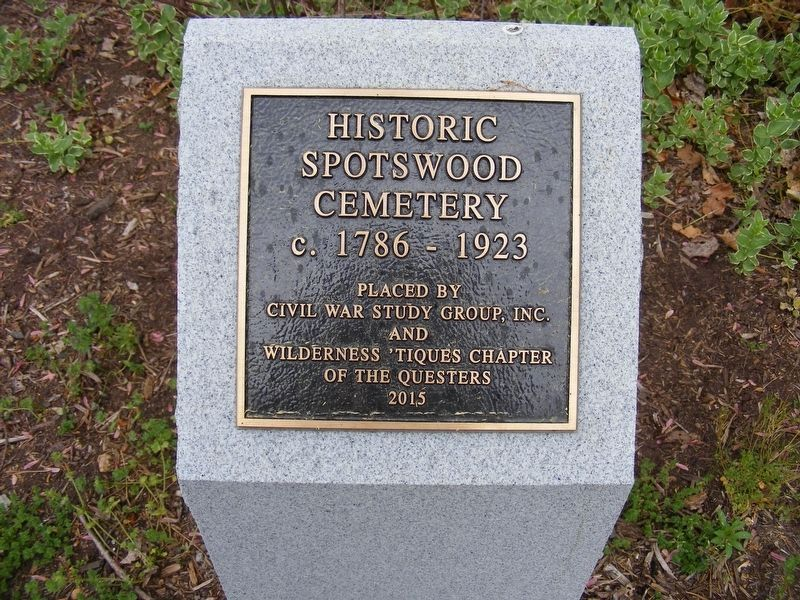 Spotswood Family Cemetery Marker image. Click for full size.