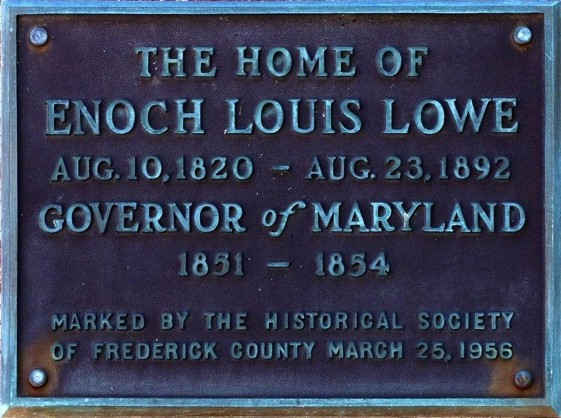 Enoch Louis Lowe Marker image. Click for full size.