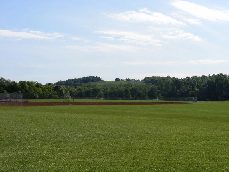 Cole's Hill as seen from the Lenn Park pavilion on Stevensburg Road image. Click for full size.