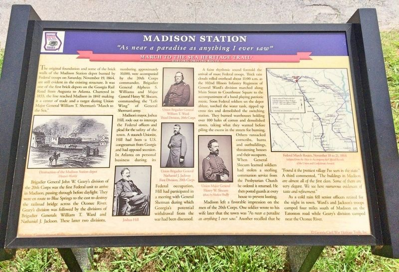 Madison Station Marker image. Click for full size.