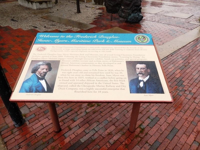 Frederick Douglass-Isaac Myers Maritime Park and Museum Marker image. Click for full size.