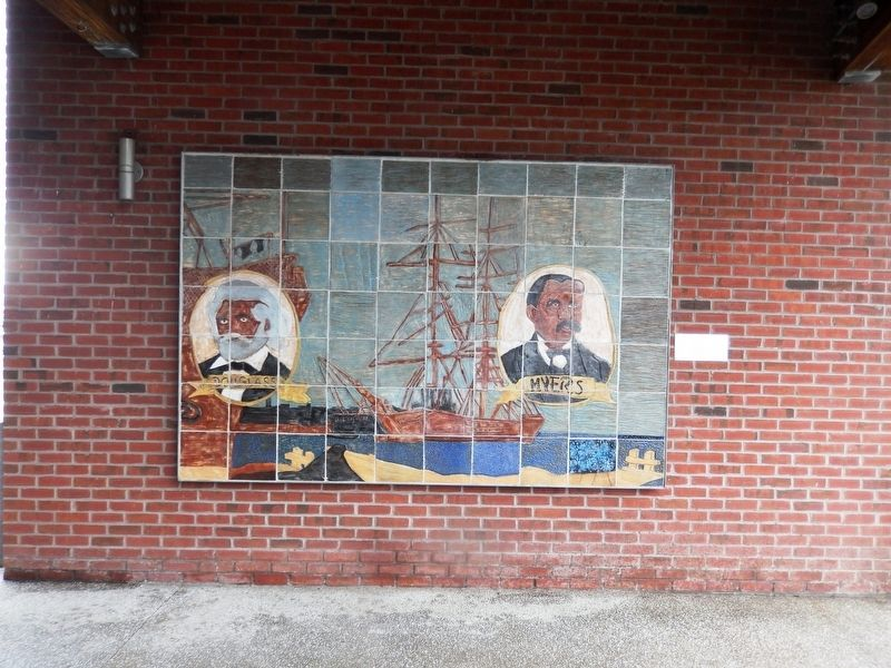 Frederick Douglass-Isaac Myers Mural image. Click for full size.