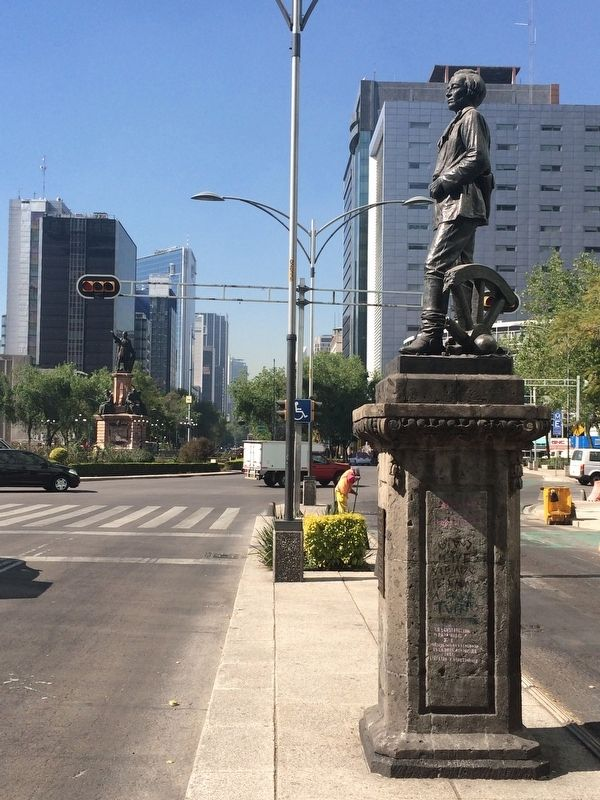 Juan Zuazua statue and Marker image. Click for full size.
