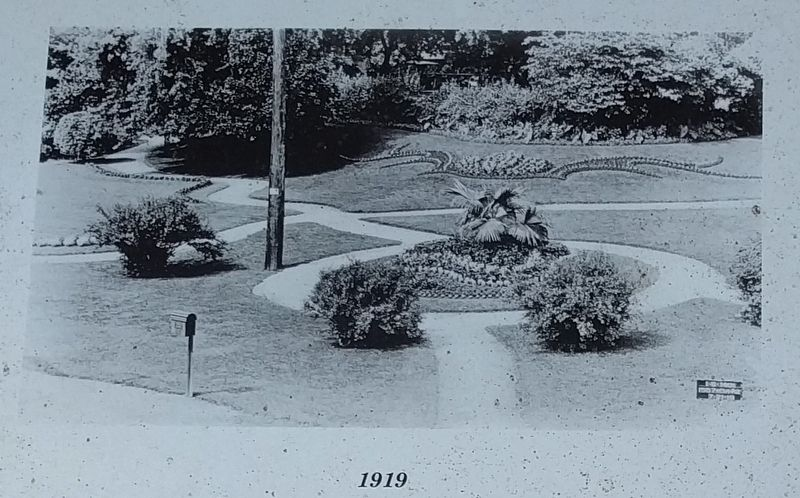 Michigan Central Railroad Gardens Marker - Left Image image. Click for full size.