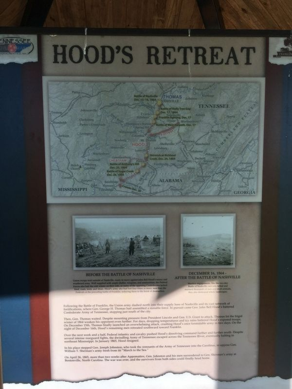 Hood's Retreat Marker image. Click for full size.
