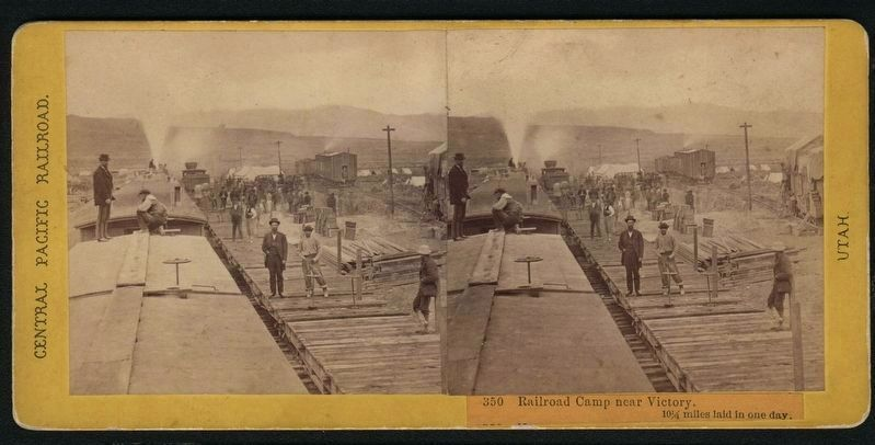 Railroad Camp near Victory. image. Click for full size.