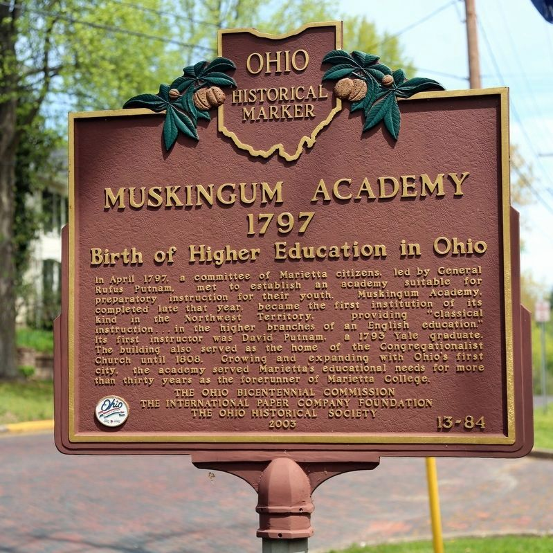 Muskingum Academy face of Marker image. Click for full size.