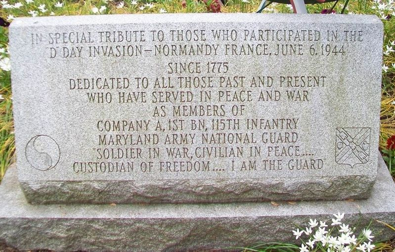 Company A, 1st Battalion, 115th Infantry Regiment Memorial Marker image. Click for full size.
