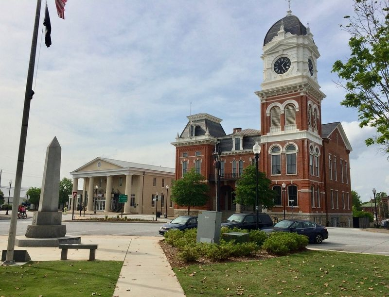 View of memorial in Covington Square near the Newton County Courthouse. image. Click for full size.