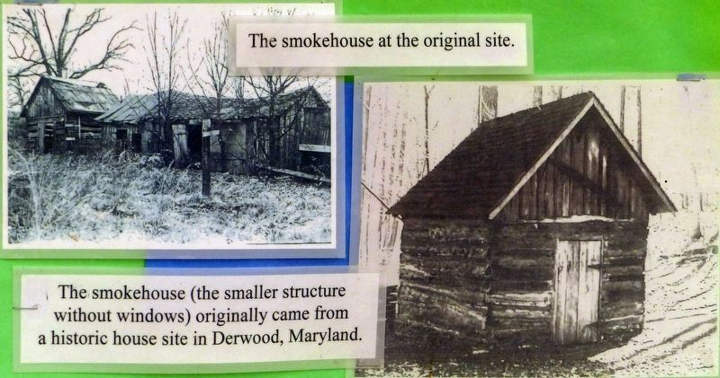 The Smokehouse at the original site. image. Click for full size.