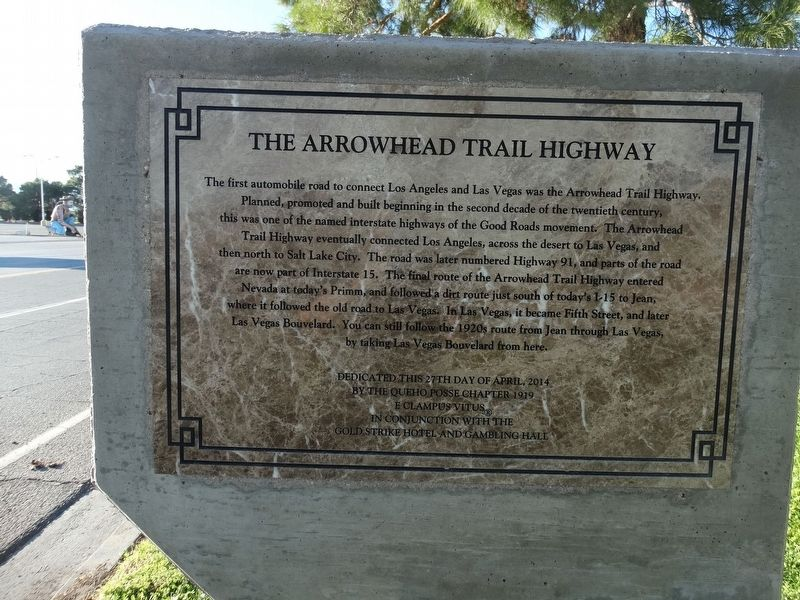 The Arrowhead Trail Highway Marker image. Click for full size.