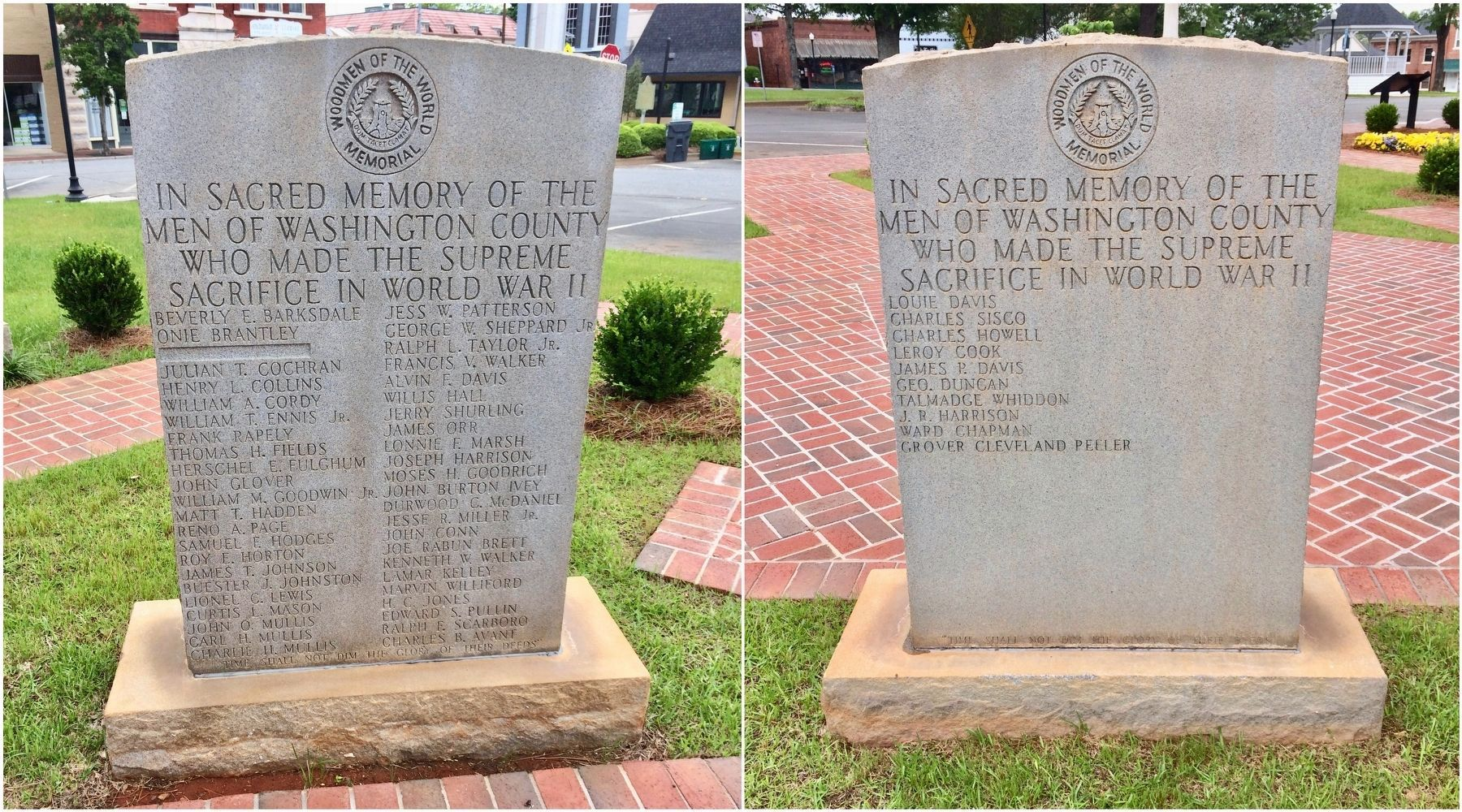Washington County World War II Monuments image. Click for full size.