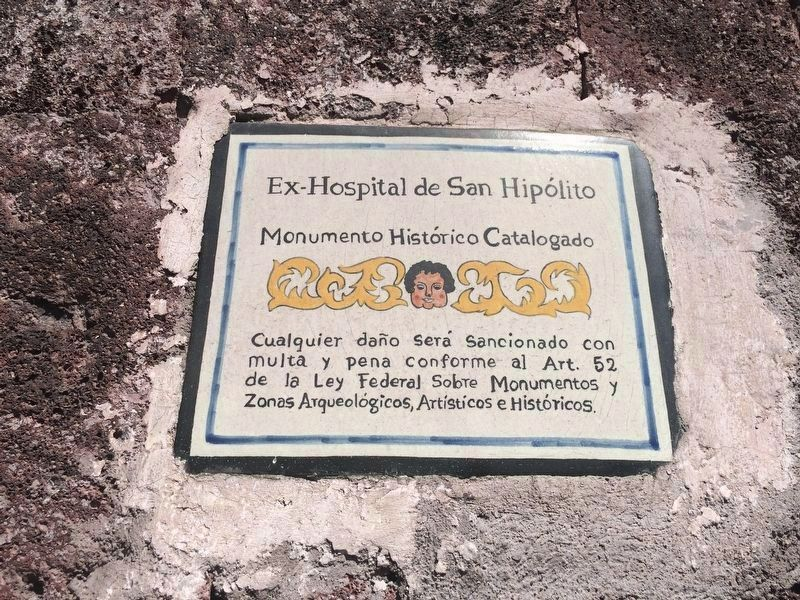 An additional Hospital of San Hipolito Marker image. Click for full size.