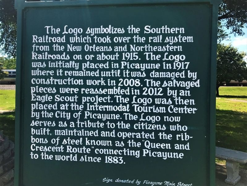 Southern Railroad Logo Marker image. Click for full size.