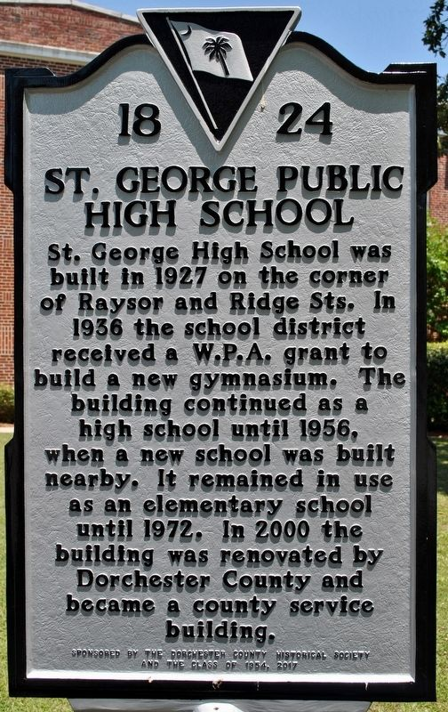 St. George Public High School Marker image. Click for full size.