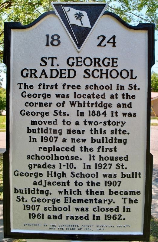 St. George Graded School Marker image. Click for full size.