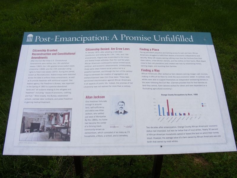 Post-Emancipation Marker image. Click for full size.