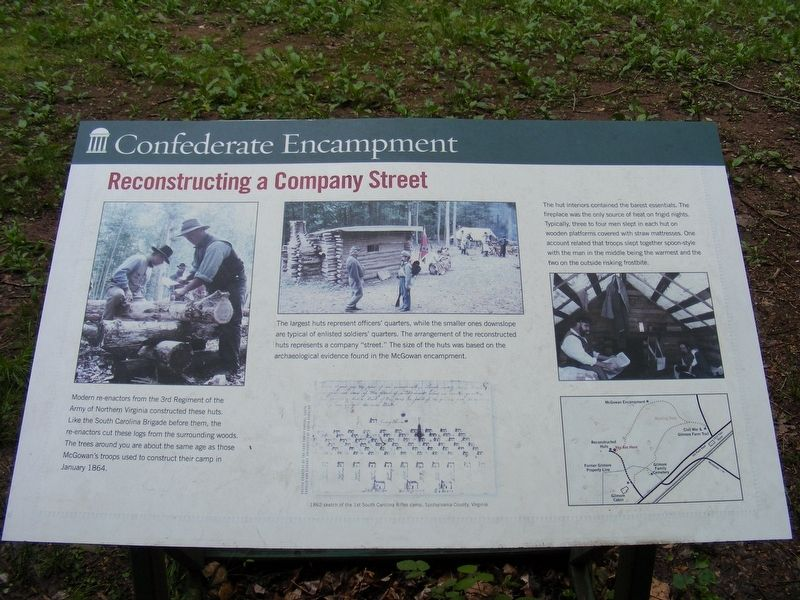 Confederate Encampment Marker image. Click for full size.