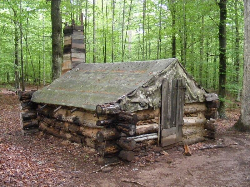 Reconstructed Soldiers' Cabins image. Click for full size.