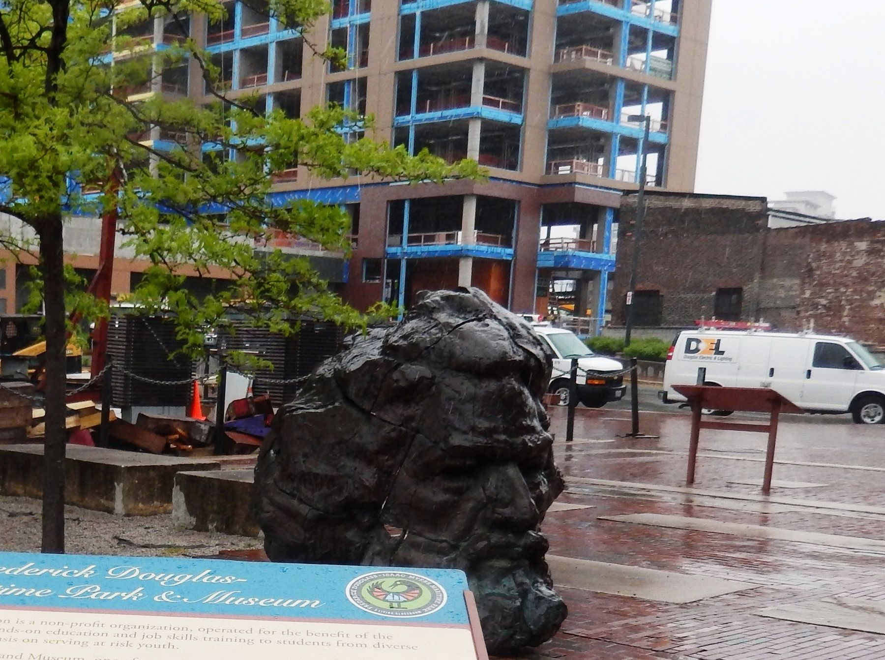 Frederick Douglass Sculpture-Front view image. Click for full size.