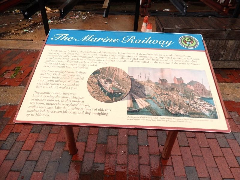 The Marine Railway Marker image. Click for full size.