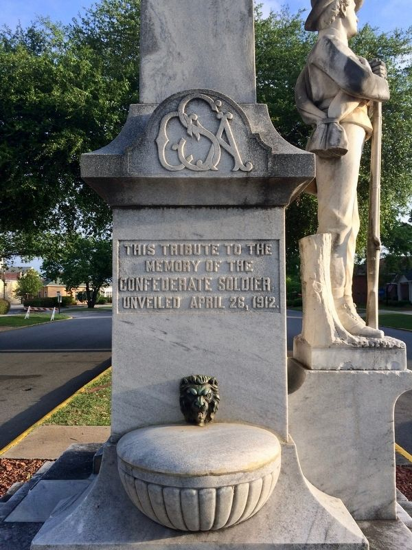 Milledgeville Confederate Monument (South side - Front) image. Click for full size.